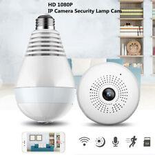 360° Panorama HD Wireless WIFI IP Camera Night Vision Home Security Lamp Cam