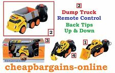 REMOTE CONTROLLED DUMP TIP TRUCK TOY CHILDRENS CONSTRUCTION Play Educational Toy