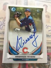 2014 Bowman Chrome Prospect Armando Rivero Auto Autograph Card - Chicago Cubs