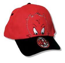 Cappellino baseball taglia 2/4 anni rosso nero ufficiale A.C.Milan PS 19466