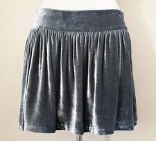 Bird Juicy Couture Mini Skirt gray velvet Large Ladies