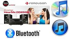 HI FI SYSTEM WITH BLUETOOTH, AM FM RADIO, STEREO SPEAKERS CD PLAYER USB
