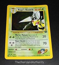 Koga's Beedrill 9/132 Gym Challenge HOLO Rare Pokemon Card NEAR MINT