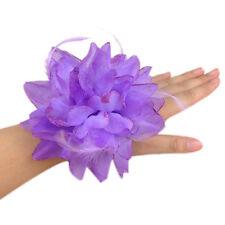 Flower Feather Brooch Fascinator Corsage For Wedding Ball Head Hair Clip 14cm EW
