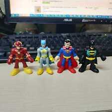 Lof of 4pcs Fisher Price IMAGINEXT Blue Batgirl Sperman Batman & Red Flash
