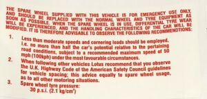 Lotus Spare Wheel Sticker - B079G4013F