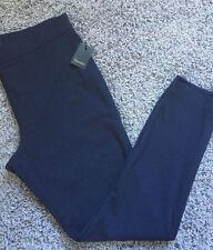 Tahari Brand Dark Blue Color Leggings Pants size 10 New MSRP $188