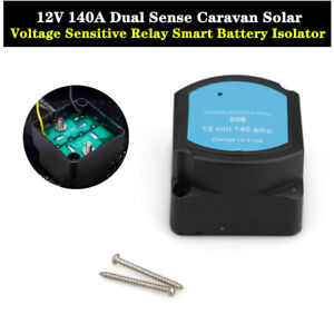 12V Universal Voltage Sensitive Relay Battery Isolator Dual Sense Caravan Solar