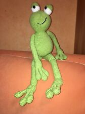Grenouille doudou jouet peluche amigurumi environ 60 cm fait main crochet d'art