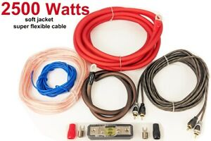 4 awg gauge Wiring Kit Car Amp Bass Cable Wiring Kit Car Audio High Quality 2500