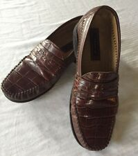 Men's Vintage Genuine ALLIGATOR Leather Florsheim Shoes Size 7 D Brown - Quality