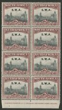 South West Africa 1927 2d Imprint block of four pairs SG 60 Mnh.