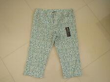 BNWT  Rockmans Printed Capri Straight leg Stretch Jeans  Size 14