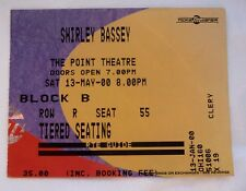 SHIRLEY BASSEY USED CONCERT TICKET / BILLET / PLACE - 2000 THE POINT THEATRE