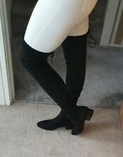 River Island BNWT Black Over The Knee Thigh High Faux Suede Boots UK6 (39)