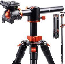 K&F Concept DSLR SLR Camera Tripod Monopod w/ Ball Head Transverse Center Column