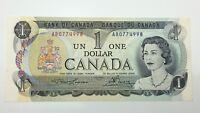 1973 Canada 1 One Dollar AB Prefix Canadian Uncirculated Banknote E304