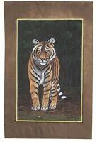 Bengala Tigre Vida Salvaje Pintura Miniatura Étnico Viejo Papel Decorativo Hecho