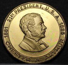 Chester A. Arthur 21st President Bronze Medallion~First Gentleman Of The Land~FS