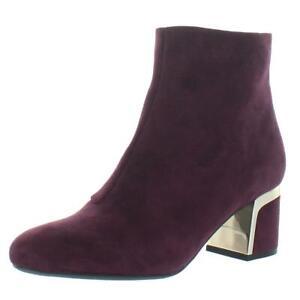 DKNY Womens Corrie Purple Suede Dress Boots Shoes 6.5 Medium (B,M) BHFO 8453