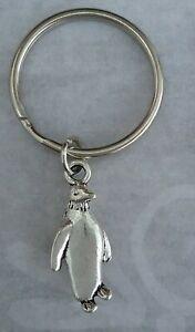 Tibetan Silver Keyring/Bag Charm PENGUIN. PRESENT/GIFT.