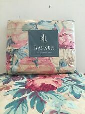 NEW!!! VTG Ralph Lauren Elsa Grasslands ~Ruffled Flat Sheet- Shabby Cottage Chic