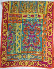 -Magnifique   Echarpe type étole GIANNI VERSACE  soie-laine TBEG  vintage Scarf