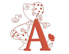 BONNET ABC ALPHABET -   30 MACHINE EMBROIDERY DESIGNS