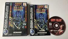 Crypt Killer Sega Saturn Complete PAL Konami Lightgun Shooter