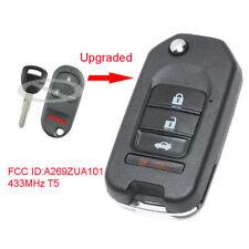 Upgraded Flip Remote Key 433MHz T5 Chip for Honda Accord Prelude FCC: A269ZUA101