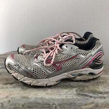 Mizuno Wave Rider 14 Running CrossFit Fitness Marathon Shoes Women Size 6.5 gray