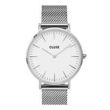 CLUSE La Boheme Mesh Silver White Mens & Womens Watches