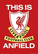 """LIVERPOOL FC laminated POSTER """"FULLY LICENSED"""" BRAND NEW """"THIS IS ANFIELD"""""""