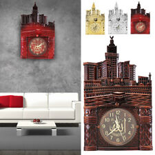 Islamic Wall Clock Decor Ramadan Calendars Eid Islamic Allah Alarm Qibla US Ship