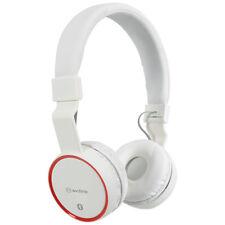AV LINK BLUETOOTH CORDLESS HEADPHONES with MICRO SD SLOT and FM RADIO - WHITE