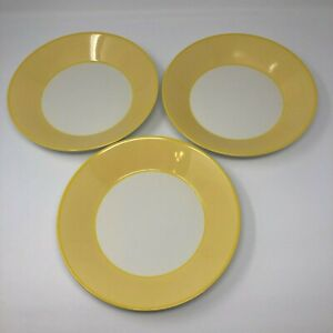 """Pagnossin Martinique Yellow Coupe Soup Bowl Pasta 8 3/4"""" Made In Italy Set of 3"""
