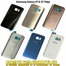 Tapa Trasera Bateria Para Samsung Galaxy S7 G930 S7 Edge G935 Adhesivo Oro edye