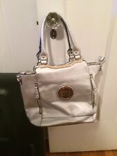 New with tags's silver shoulder bag Woman's Purse with oriental ornament