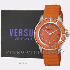 Authentic Versus by Versace Tokyo Luminous Orange Rubber Watch