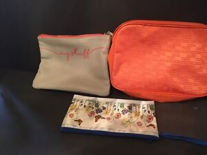 3 Mix Hand Bags, Makeup Travel Cosmetic Bag Case Multifunction Toiletry Flowers
