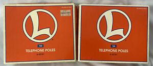 Lionel #6-62181 (X2) ~ Telephone Poles ~ 2 Sets of Lionel Telephone Poles ~ NEW