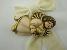 THUN Bozener Bozner Engel mit Herz Wandengel gold weiß 11 cm Italien