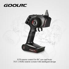 Original GoolRC TG3 2.4GHz 3CH Transmitter with Receiver for RC Car Boat D0Q5