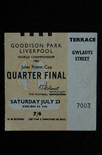 TICKET 1966 WORLD CUP QUARTER FINAL 23/07/1966  PORTUGAL V NORTH KOREA