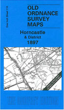 OLD ORDNANCE SURVEY MAP HORNCASTLE, WOODHALL SPA & DISTRICT 1897