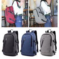 Unisex Anti-Theft Backpack Laptop USB Port Charger Travel Rucksack School Bag AU
