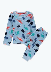 Kids Boys Blue Dinosaur Fleece Pyjama Set (12mths-5yrs)