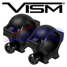 """VISM Pair 1"""" Inch Tube Rifle Scope Ring 0.9"""" Height 3/8"""" Dovetail Rail Mount"""
