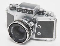 Exakta VX1000 Kamera Camera mit Schacht Jena 50mm 1:2.8 Objektiv Lens #182