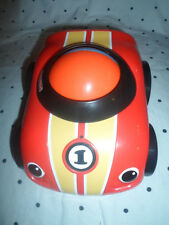 "#1 Little Zoomer Ball Red 8"" Race Car Spinning Sounds Speedway Fisher Price 2010"